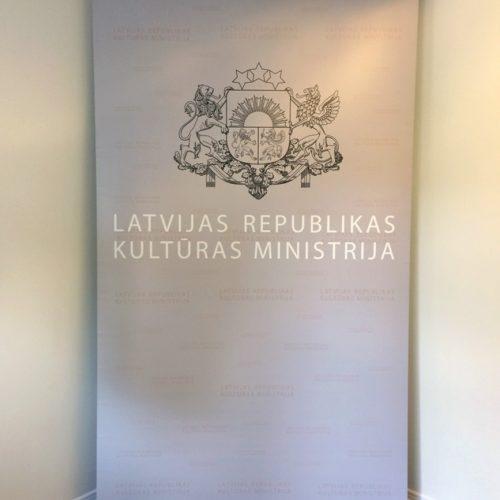 Roll-up banners Kultūras Ministrija