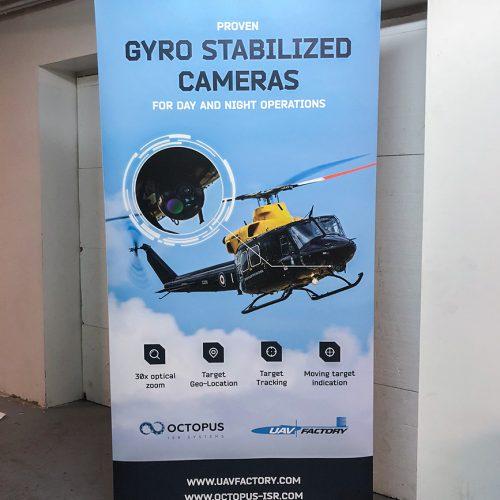 Roll-up stends 100x200cm UAV factory