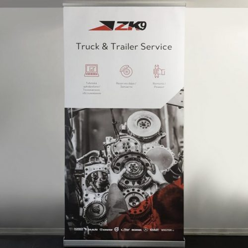 Roll-up stends 100x200cm ZK9