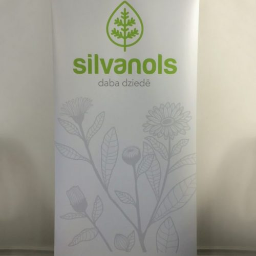 Roll-up stends 100x200cm Silvanols