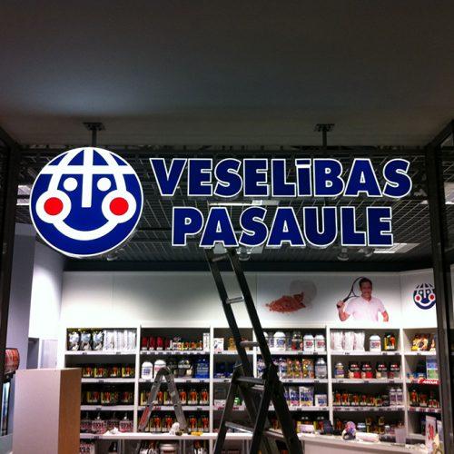 Gaismas logotips VESELĪBAS PASAULE