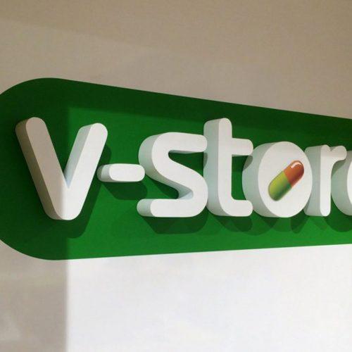 Telpisks logotips no putuplasta – V-STORE