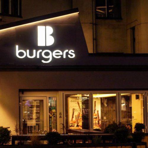 Telpiskie burti ar gaismas diodēm – B Burgers