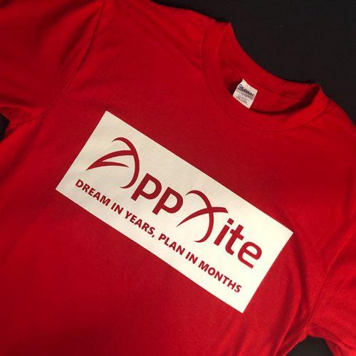 T-kreks ar sietspiedes apdruku – AppXite