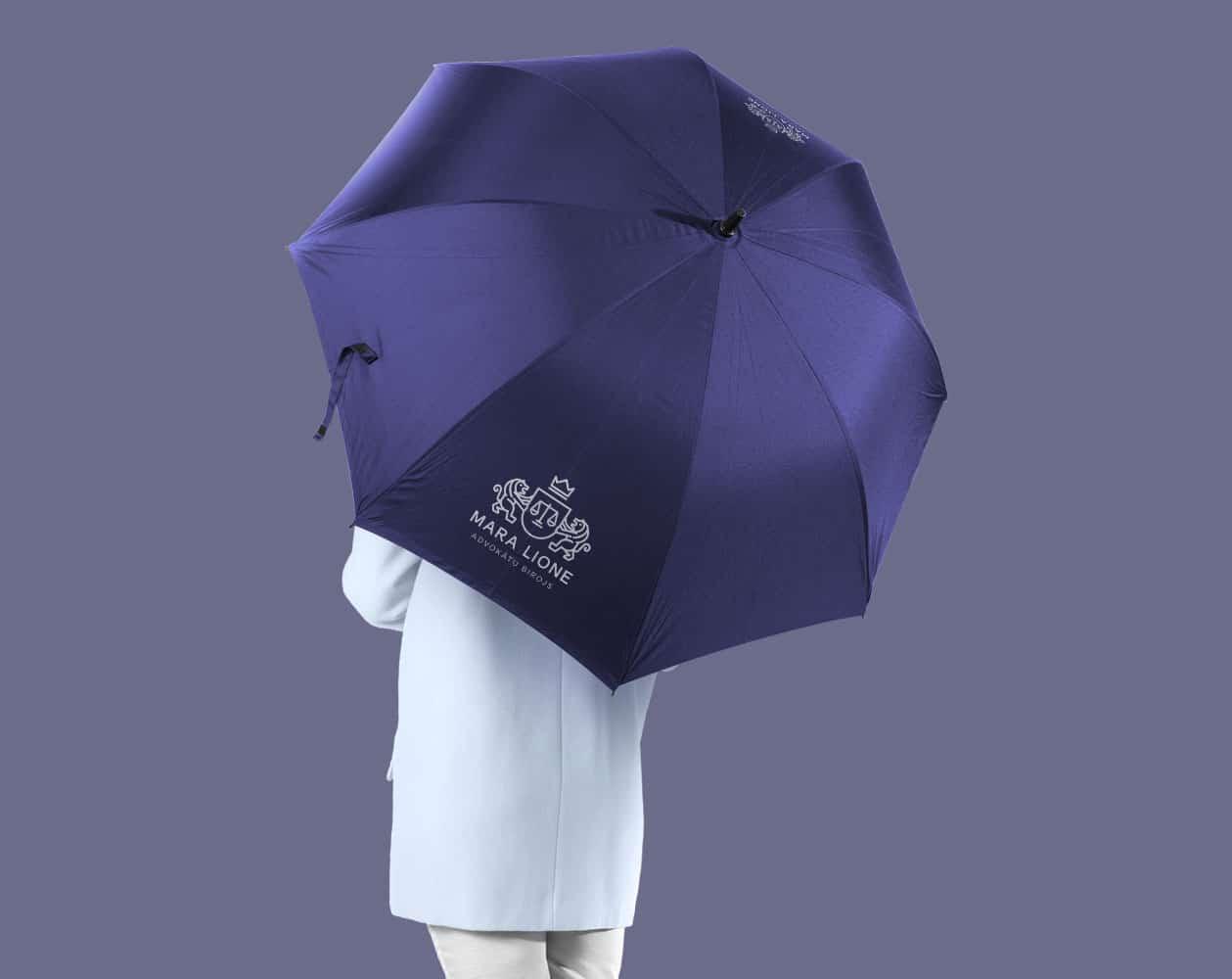Lietussargu apdruka logo