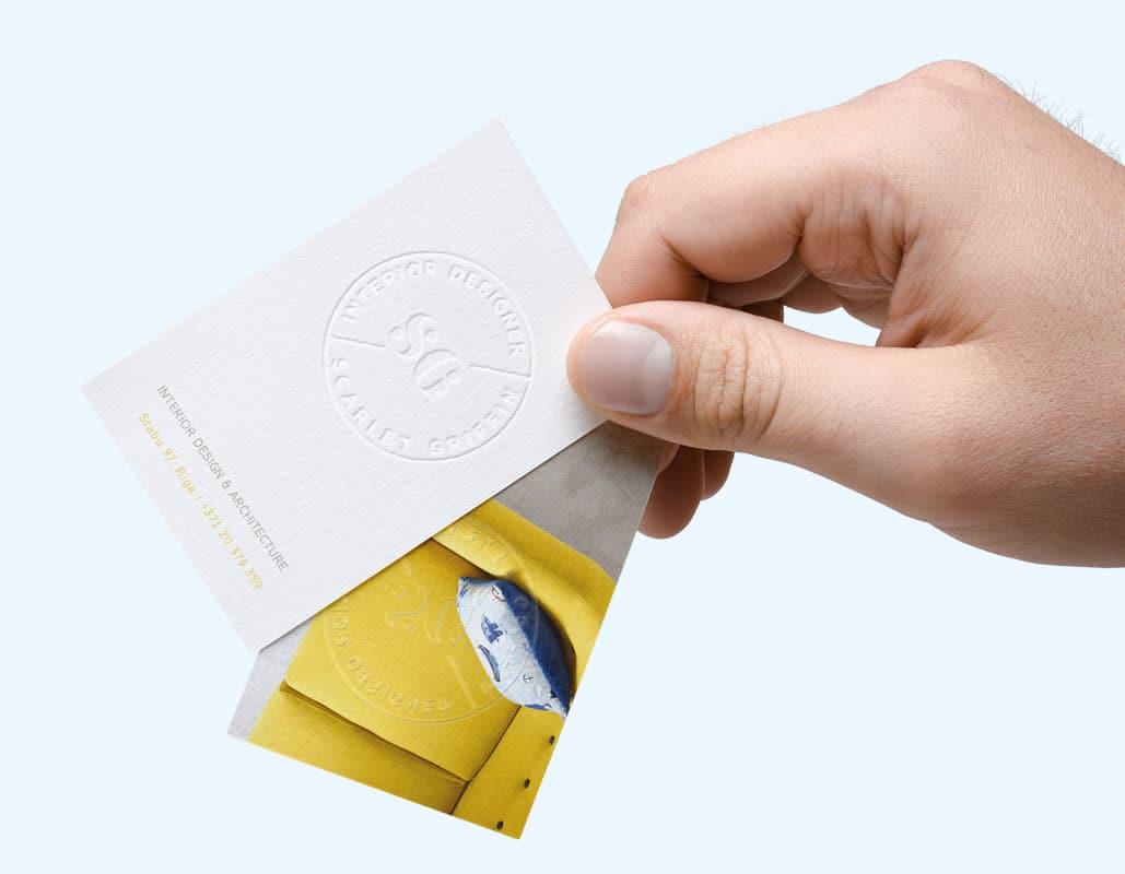 reljefa vizītkartes